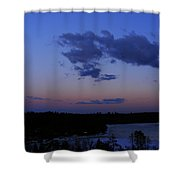 The Sunset Moon In Winter Shower Curtain