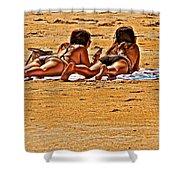 The Suntan Girls Shower Curtain