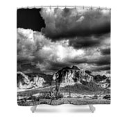 The Supes In Black And White  Shower Curtain