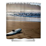The Surf Is No Longer Up Shower Curtain