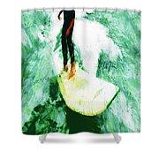 The Surfing Hobbit  Shower Curtain
