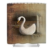 The Swan Planter Shower Curtain