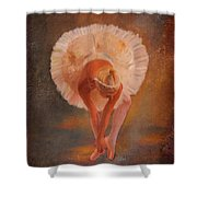 The Swan Warming Up Shower Curtain