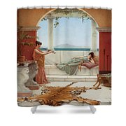 The Sweet Siesta Of A Summer Day Shower Curtain