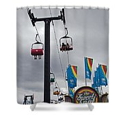 The Sweet Spot Shower Curtain by Skip Willits