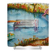 The Swimming Hole Shower Curtain