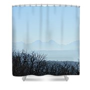 The Swiss Alps Panorama  2 Shower Curtain
