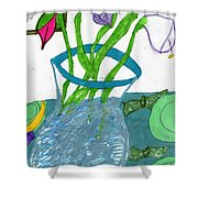 The Table Setting Shower Curtain