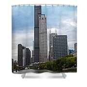 The Tall Buildings Shower Curtain