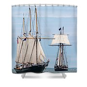 The Tall Ships Shower Curtain