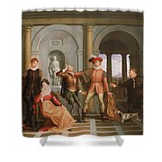 The Taming Of The Shrew Shower Curtain