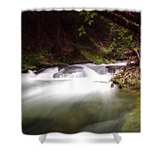 The Tananamawas River Shower Curtain