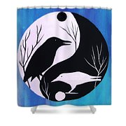 The Tao Of Crow Shower Curtain