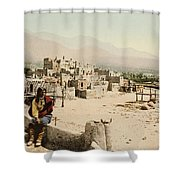 The Taos Pueblo Shower Curtain