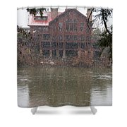 The Taprock In Winter Shower Curtain
