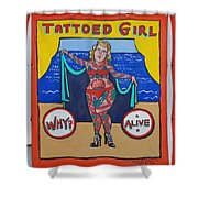The Tattoed Girl Shower Curtain