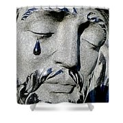 The Tear Of Jesus Shower Curtain