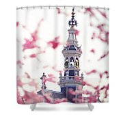 The Temple Bell Dies Away 1. Pink Spring In Amsterdam Shower Curtain
