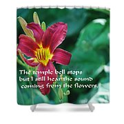 The Temple Bell Shower Curtain
