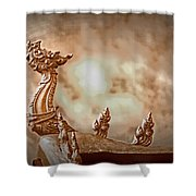 The Temple Dragon Shower Curtain