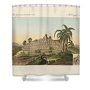 The Temple Of Buddha Of Borobudur In Java Shower Curtain