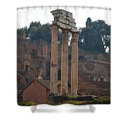 The Temple Of Castor And Pollux Shower Curtain