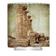 The Temple Of Heracles Shower Curtain