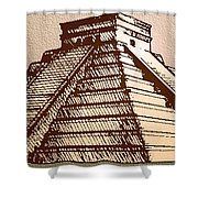 The Temple Of Kukulcan Chichen Itza   Shower Curtain