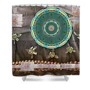 The Temple Of Mammon Shower Curtain