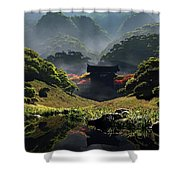 The Temple Of Perpetual Autumn Shower Curtain