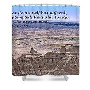 The Temptation Of Jesus Hebrews 2 18 Shower Curtain