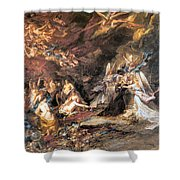The Temptation Of St. Anthony Shower Curtain