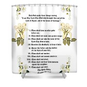 The Ten Commandments Shower Curtain by Anne Norskog