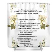 The Ten Commandments Shower Curtain