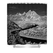 309217-the Teton Range From Snake River Overlook Shower Curtain