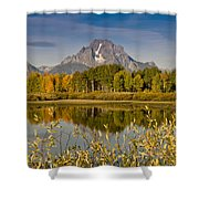 The Tetons And Fall Colors Shower Curtain
