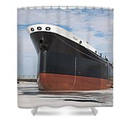 The Texas Cargo Ship Shower Curtain