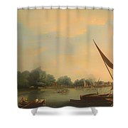 The Thames At Chelsea Shower Curtain