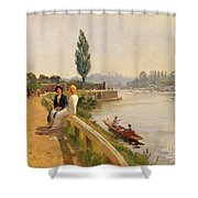 The Thames At Hampton Court Shower Curtain
