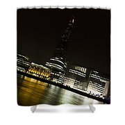 The Thames Downhill Shower Curtain