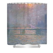 The Thames With Charing Cross Bridge Shower Curtain