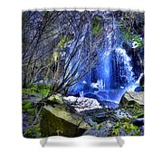 The Thawing Falls Shower Curtain