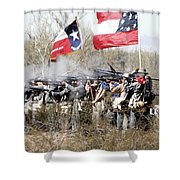 The Thin Gray Line Shower Curtain