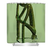 The Thinker   Number 10 Shower Curtain