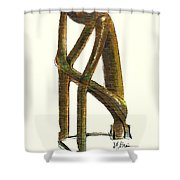 The Thinker  Number 11 Shower Curtain