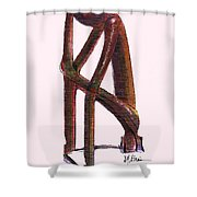 The Thinker   Number 17 Shower Curtain