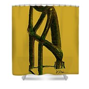 The Thinker   Number 4 Shower Curtain
