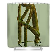 The Thinker  Number 6 Shower Curtain