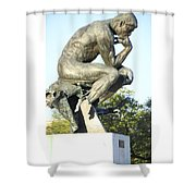 The Thinker Cleveland Art Statue Shower Curtain