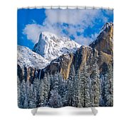 Cathederal Rocks And Bridalveil Shower Curtain